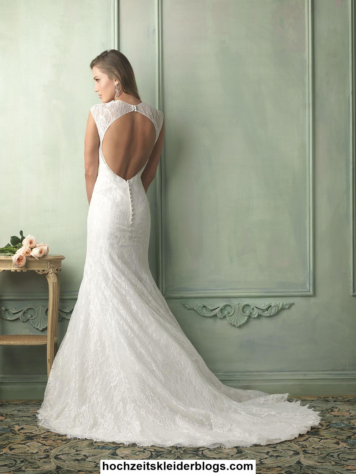 Rückenfreies Hochzeitskleid