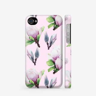 Chehol dlya i-phone s printom magnoliya na rozovom | Inna Yakuskeva's blog