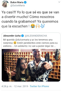 https://mobile.twitter.com/DulceMaria/status/1105596442071261184?ref_src=twsrc%5Etfw%7Ctwcamp%5Etweetembed%7Ctwterm%5E1105596442071261184&ref_url=https%3A%2F%2Fwww.aciprensa.com%2Fnoticias%2Ffamosos-musicos-mexicanos-cantan-a-favor-de-la-vida-y-mujeres-con-embarazos-vulnerables-49623
