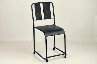 Silla Forja Dark Azul Desgastado, silla cocina forja, silla rustica forja, silla decoracion