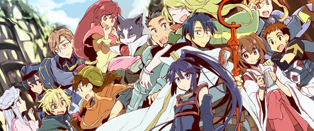 Kadr z bohaterami Log Horizon