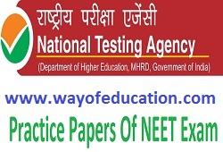 3 Subjects Practice Paper Of NEET Exam