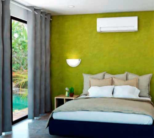 Instalaciones eléctricas residenciales - Recámara de vivienda con evaporador de MiniSplit