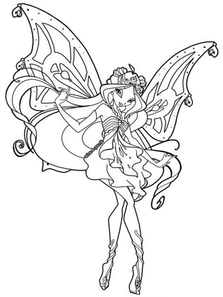 Winx Club Coloring Pages Printable | Realistic Coloring Pages