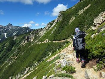大天井岳と西岳