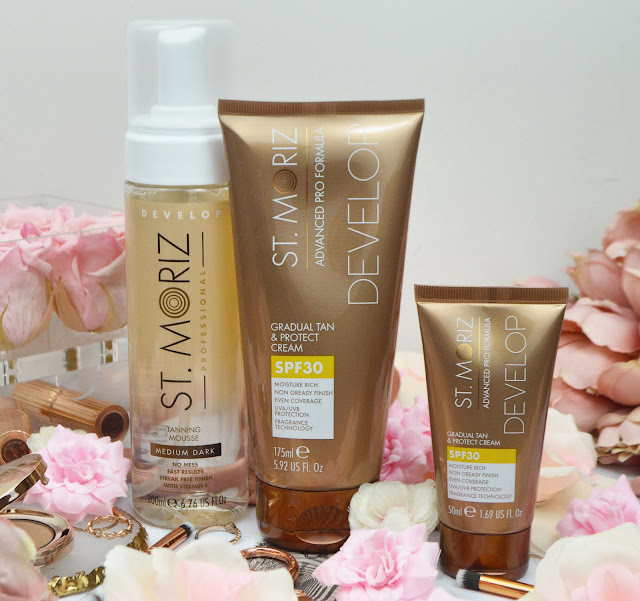 New In From St Moriz | St. Moriz Professional Medium - Dark Clear Tanning Mousse & St. Moriz Advanced Pro Gradual Tan & Protect Cream; Lovelaughslipstick Blog Review