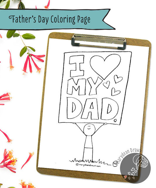 i love my dad printable