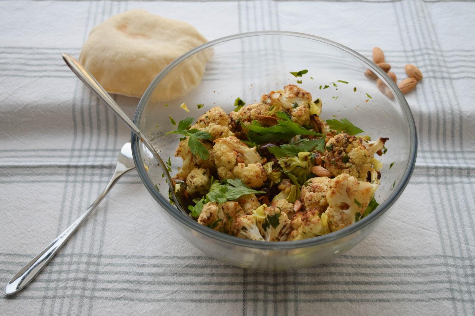 Roasted Cauliflower and Almond Salad
