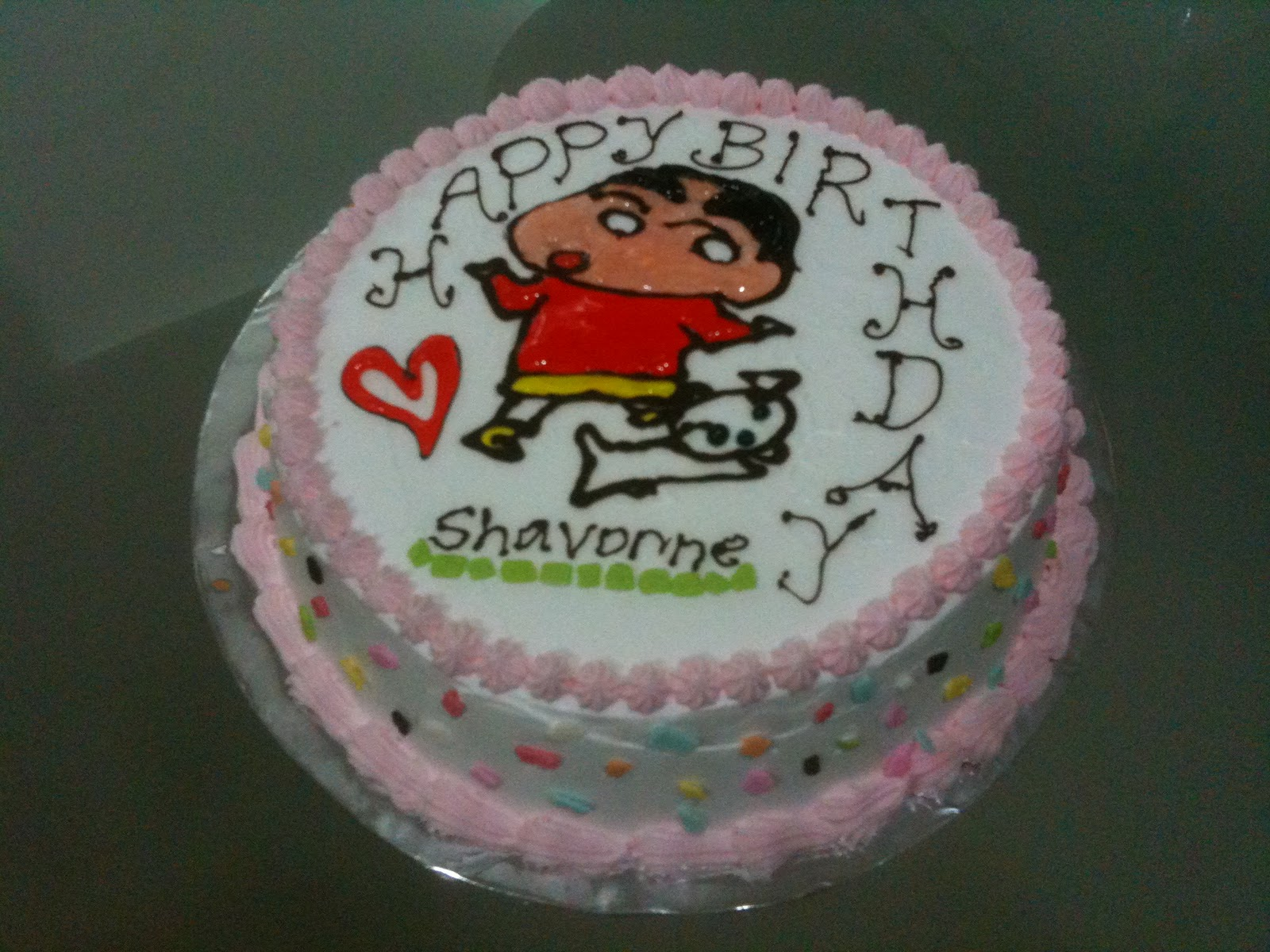 My Homemade Goodies Crayon Shinchan Cake