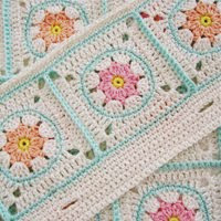 Crochet Pattern Flower Square VII (Etsy)