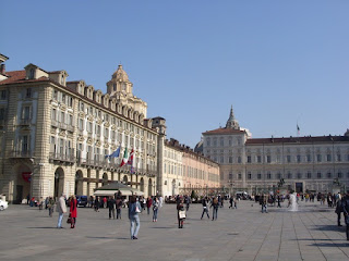 The Piazza Castello in the heart of royal Turin