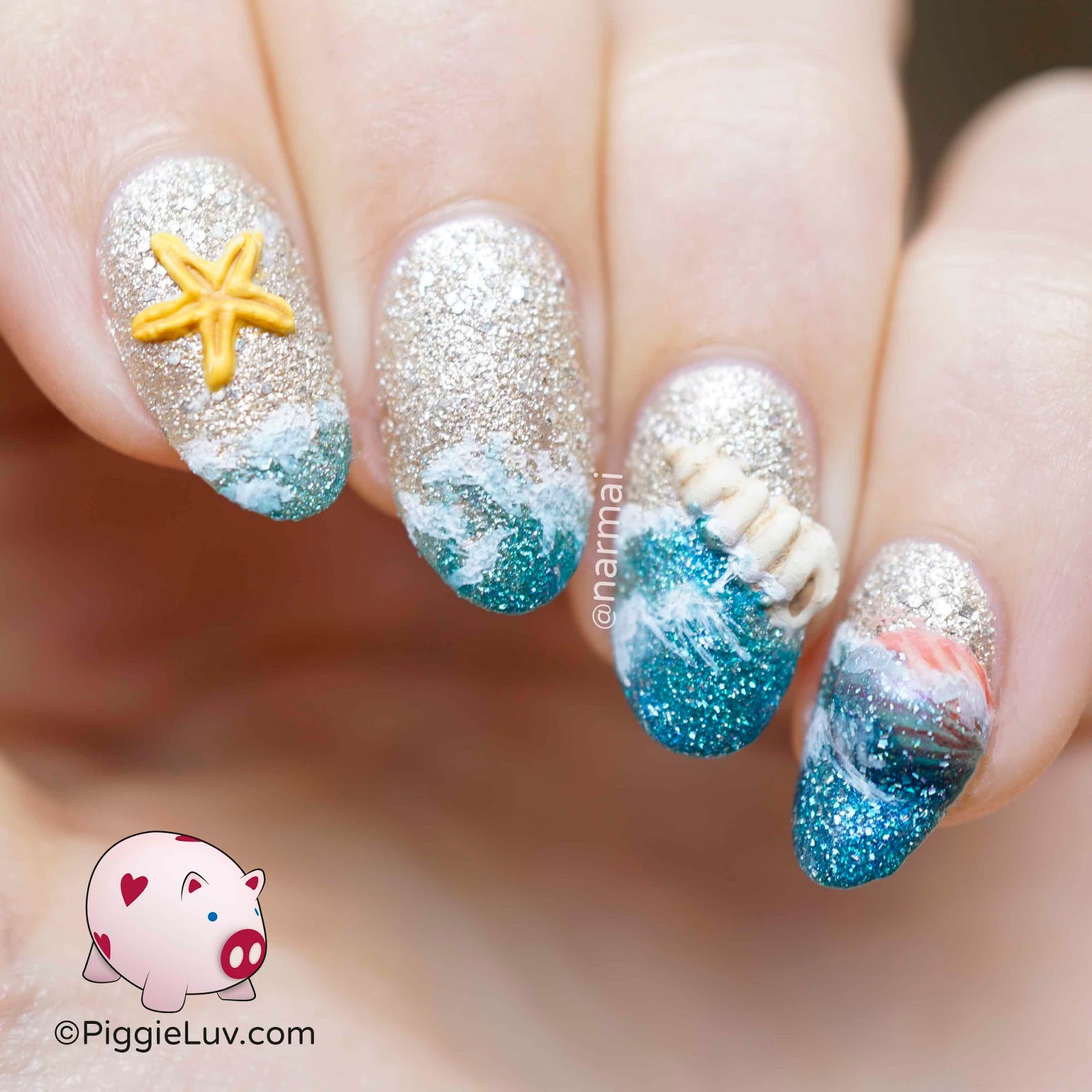 PiggieLuv: Son of a beach nail art