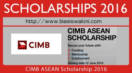 CIMB ASEAN Scholarship 2016