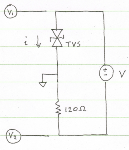TVS Diode test circuit schematic