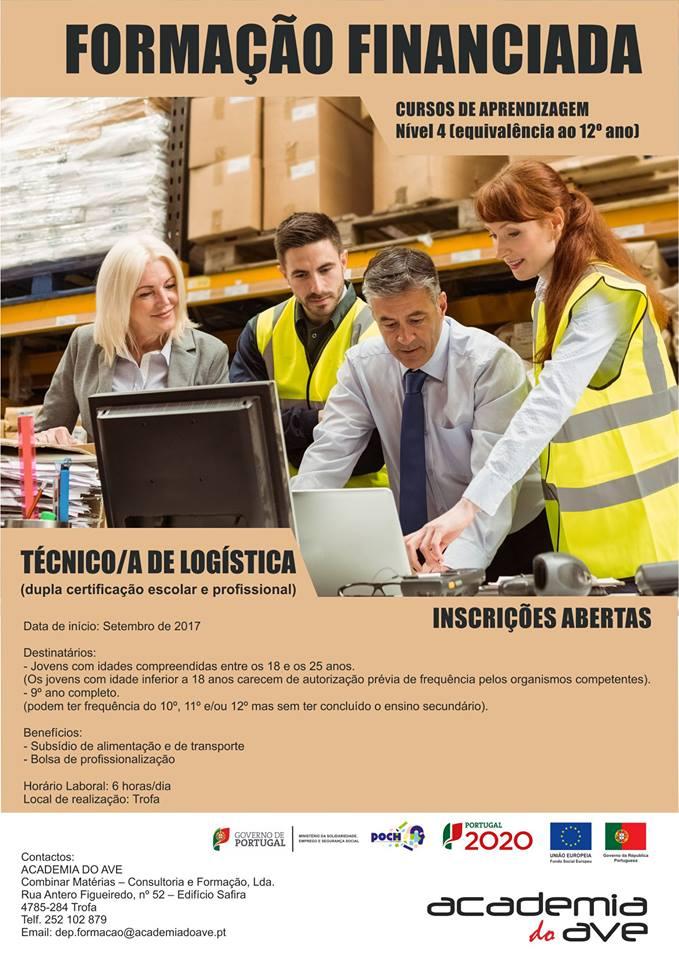 Curso de dupla certificação na Trofa (Técnico/a de Logística Nível 4)