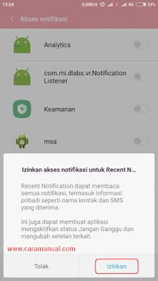 izinkan akses notifikasi