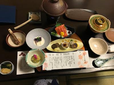 貝掛温泉の夕食 スターティングメンバー