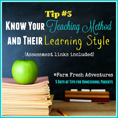 Tip #5 Know Your Teaching Method and Their Learning Style