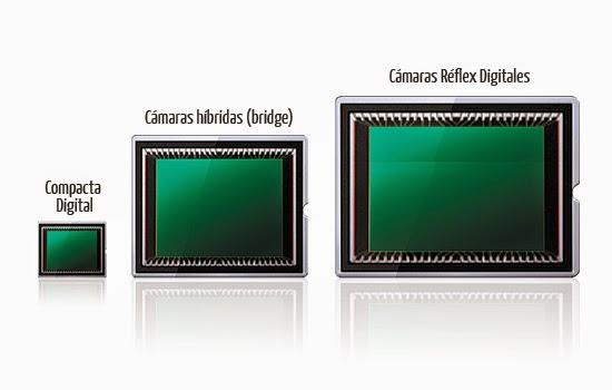 مقارنة بين مختلف أحجام المستشعر في الكاميرا الرقمية