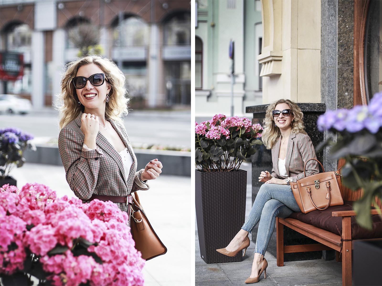 Rita_maslova_belt_jacket_trend2017_skinny_zara_jeans_nude_sam_edelman_shoes_Michael_Kors_bag_hamilton_classic_outfit_