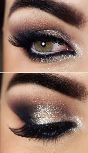 New Year's Eve makeup and hair Ideas