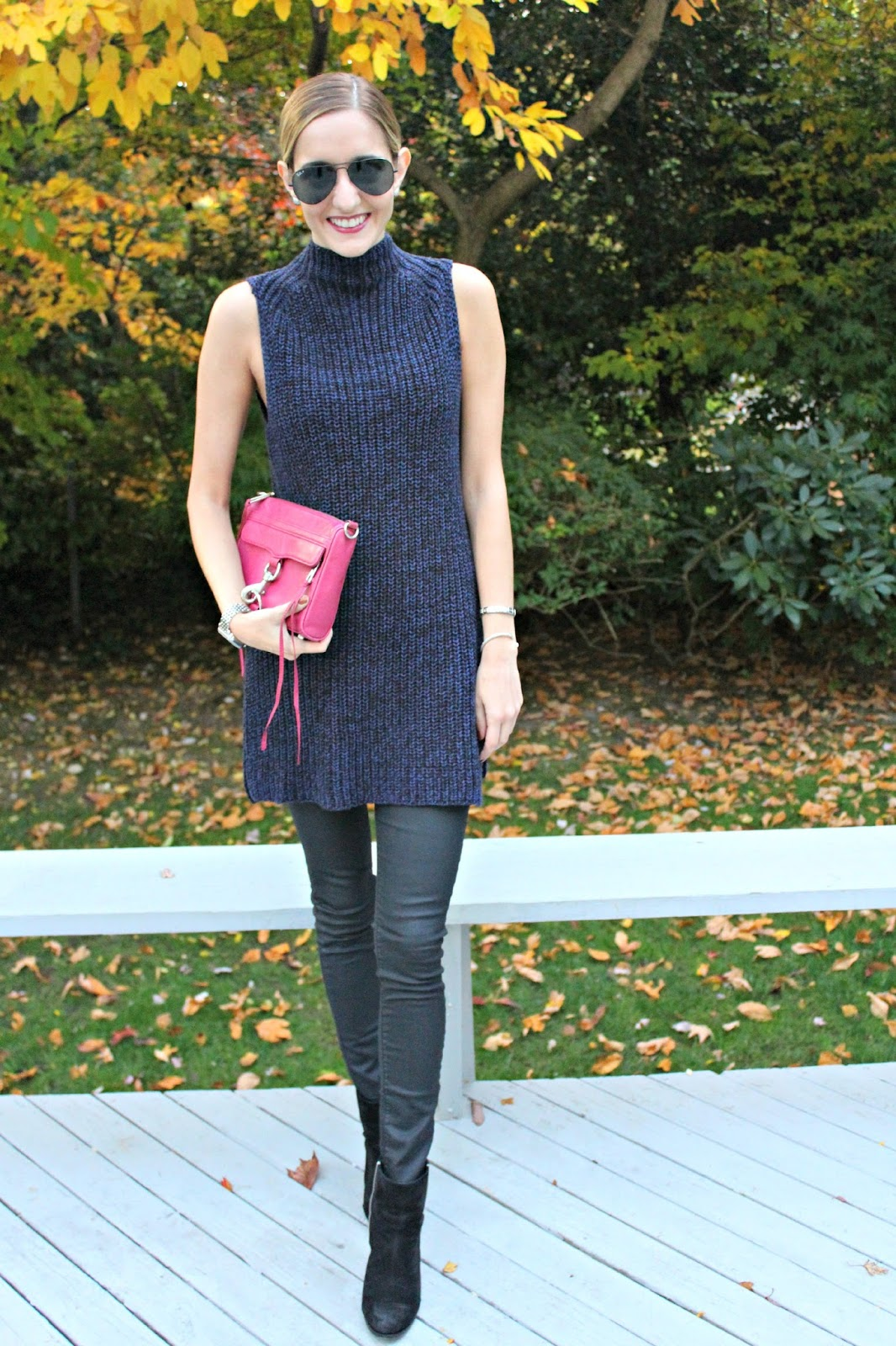 styling a sleeveless sweater