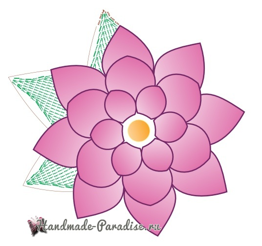 Схемы вязания салфетки «Волшебный цветок» (5)