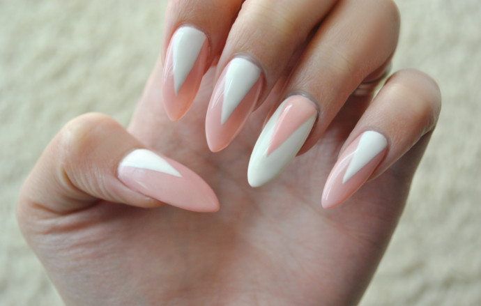 Triangle Half Moon Nails