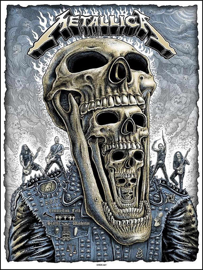 Inside The Rock Poster Frame Blog Metallica Emek Seattle