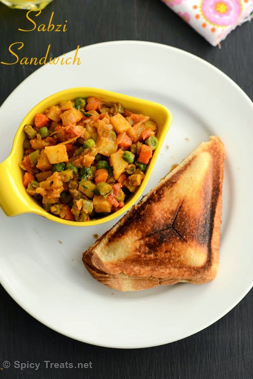 Veg Sabzi Sandwich Recipe