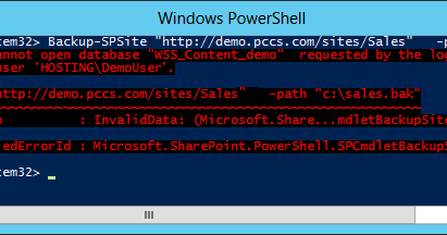SharePoint PowerShell Error: Cannot open database