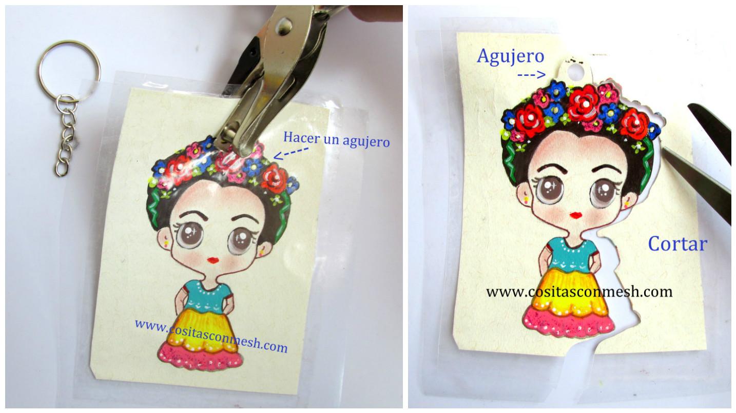 Dibujos Frida Kahlo Para Colorear: Aprende Cómo Hacer Llaveros De Frida Kahlo En Cartulina