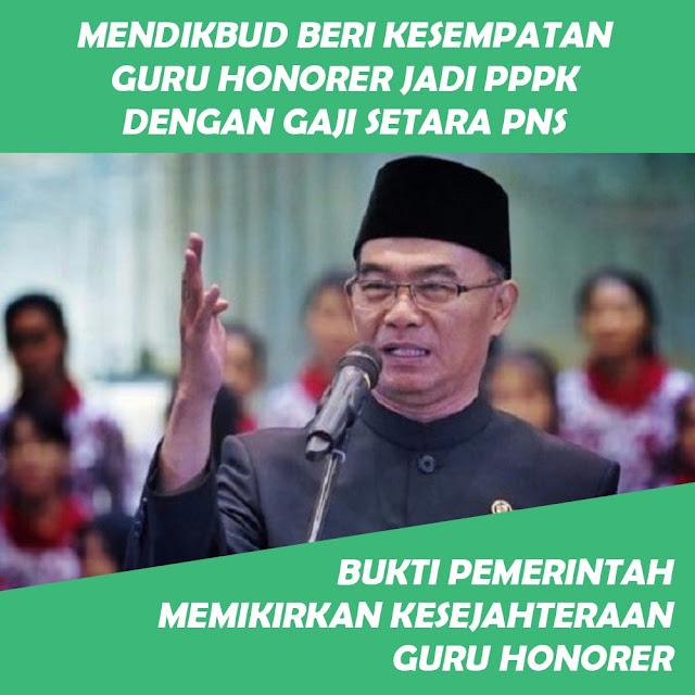 MENDIKBUD Beri Kesempatan Guru Honorer Jadi P3K