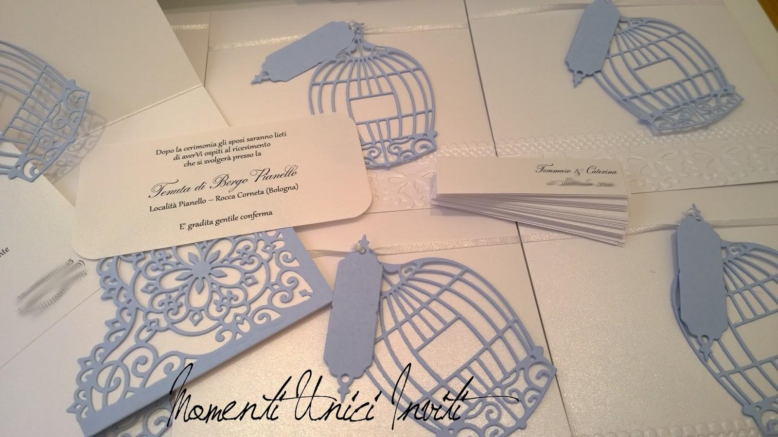 Partecipazioni Matrimonio Azzurro : Le partecipazioni nei toni dell azzurro polvere e bianco ottico di