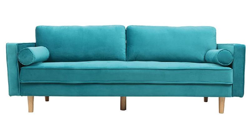 divano 3-4 posti modello IMPERIAL rivestimento velluto turchese