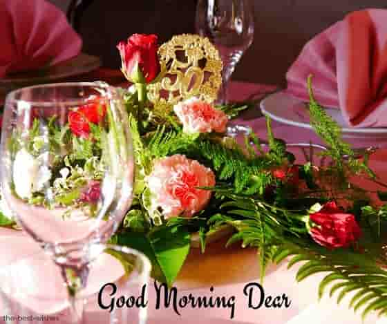 good morning dear rose image