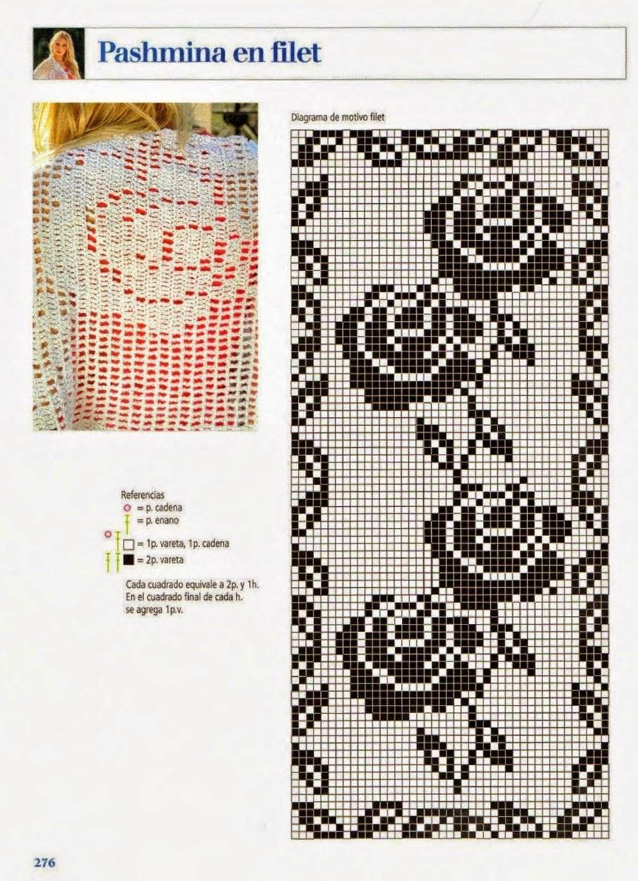 Hermosa Patrones De Animales Crochet Filete Molde - Manta de Tejer ...