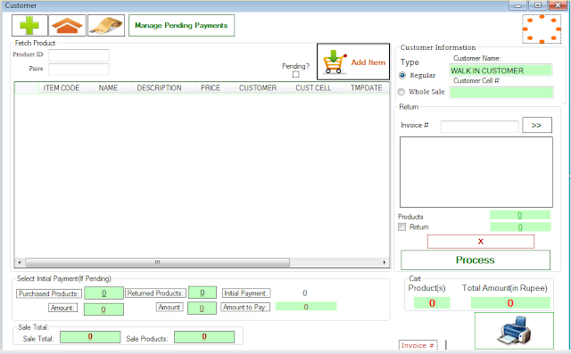 POINT OF SALE SYSTEM SOFTWARE VB PROJECT WITH SOURCE CODE