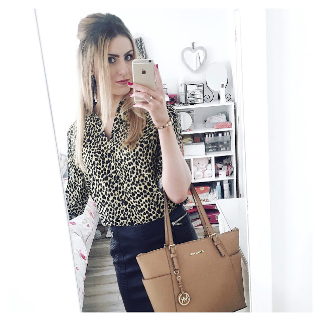 topshop leopard shirt outfit