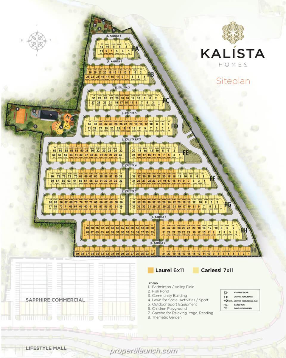 Site Plan Cluster Kalista Homes