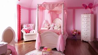 habitación rosa estilo princesa