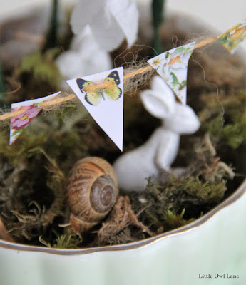 Fairy Garden Bunting Tutorial | Little Owl Lane Blog