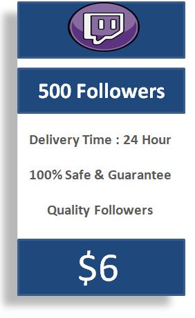 500 boost twitch followers