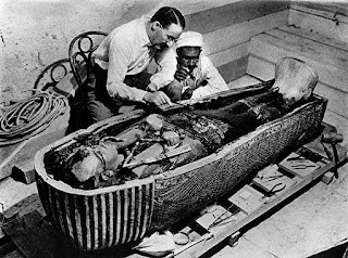 first look at King Tut's mummy and sarcophagus
