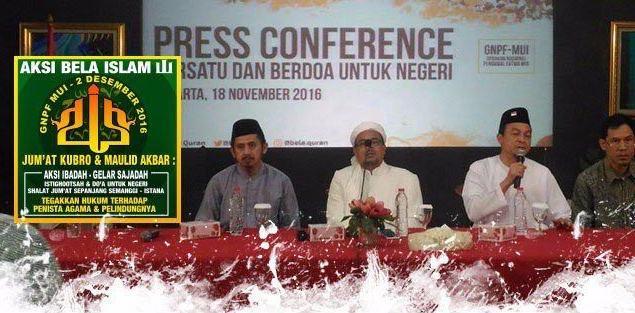 GNPF-MUI: Aksi Bela Islam 2 Desember Dipastikan Aksi Super Damai : kabar Terhangat Hari Ini