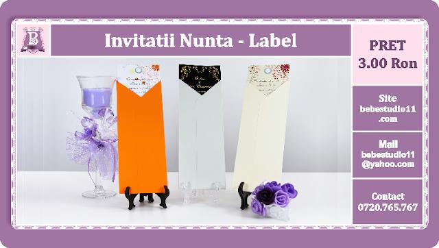 Invitatii Nunta Label
