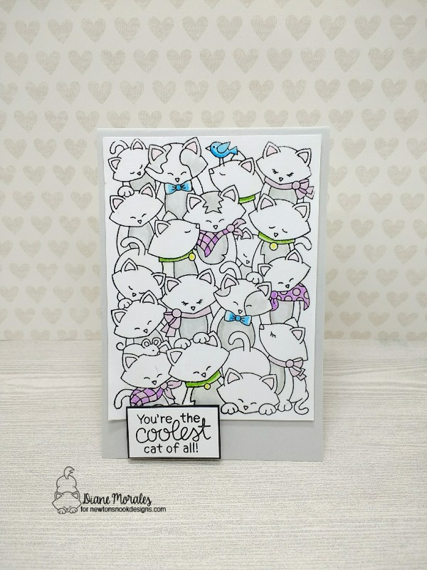 You're the coolest cat of all by Diane features Company of Cats by Newton's Nook Designs; #newtonsnook