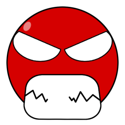 Angry robot red smiley