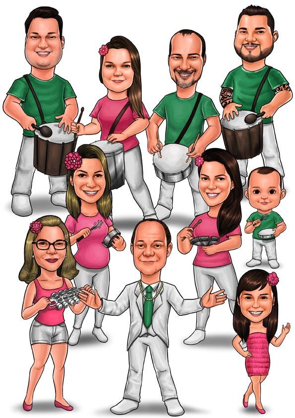 caricatura carnaval sao paulo sp