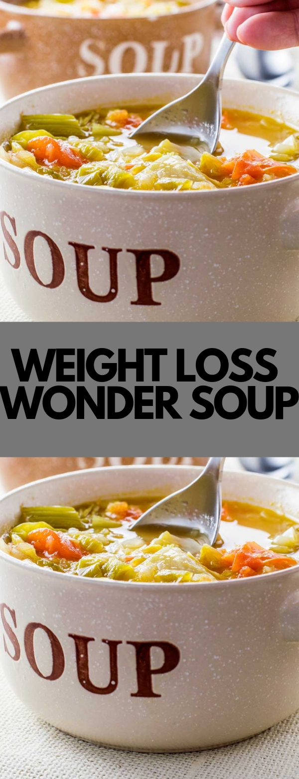 WEIGHT LOSS WONDER SOUP #soup #vegan #weightloss #glutenfree #paleo